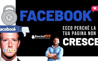 Facebook: Ecco perché la tua pagina non cresce
