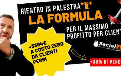 [+3384€ da clienti persi] Rientro in Palestra – La Formula per il Massimo profitto